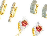 Gold Earrings Clipon 22 Karat