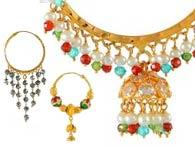Gold Earrings 22k Hoops