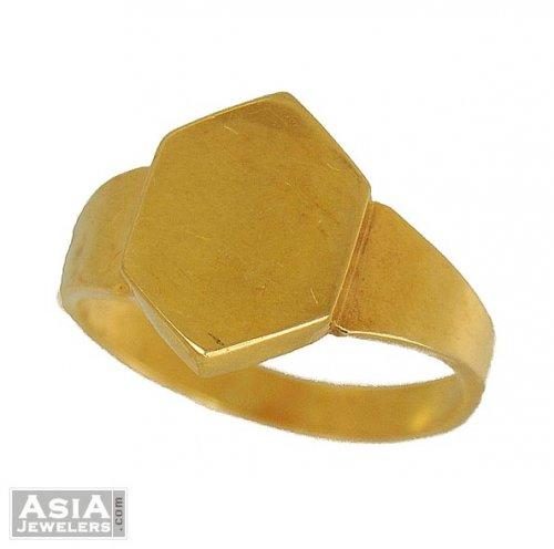 Mens Gold Ring Simple design AjRi US$ 300 22K Gold