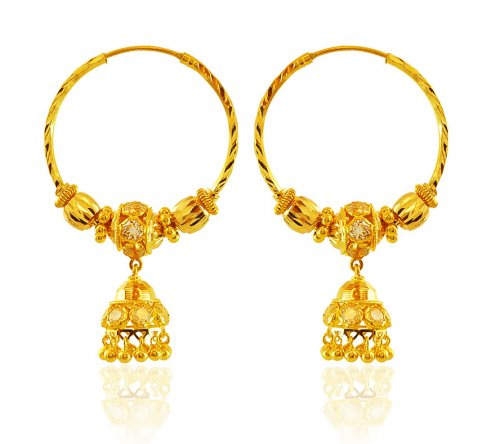 22k Gold Bali Earrings