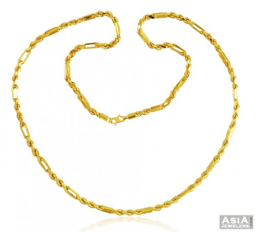 inch flat chains gold crub link indian chain