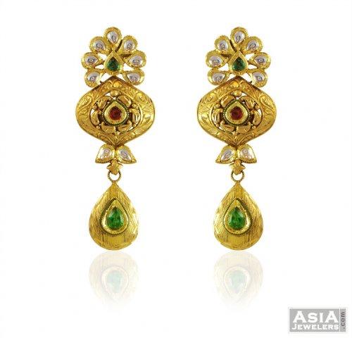 22k Gold Beautiful Antique Earrings