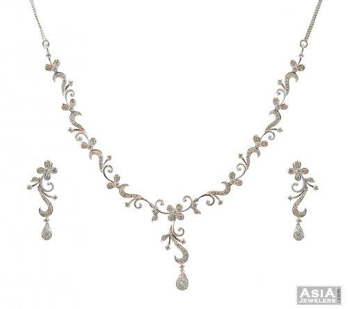18k White Gold Diamond Set
