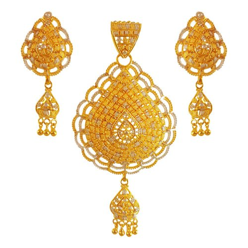 earrings chaand set index pendant gold with