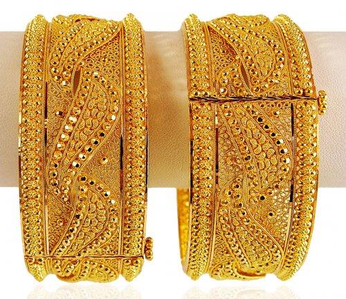 22k Gold Bridal Kadas Pair Ajba62603 22 Karat Gold