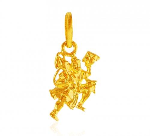 22 karat gold hanuman pendant ajpe61862 22kt gold pendant is 22 karat gold hanuman pendant aloadofball Images