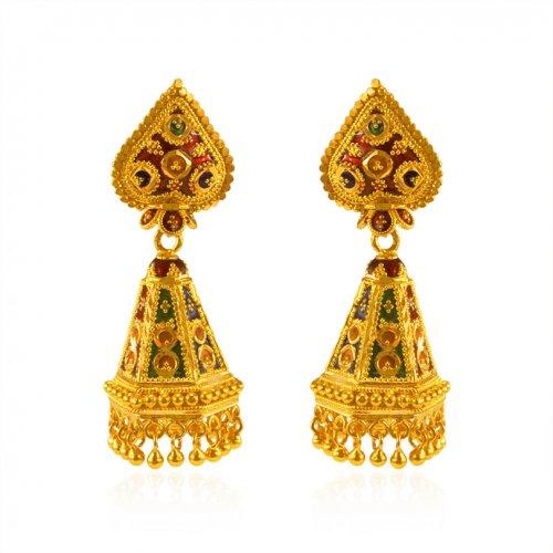 22k Gold Jhumka Earrings