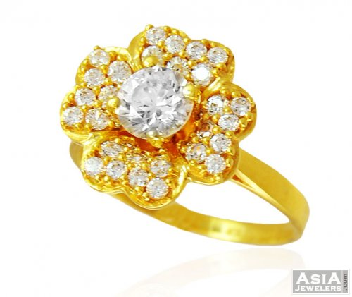 Beautiful Floral 22k Gold Ring ajri US$ 379 22k Gold