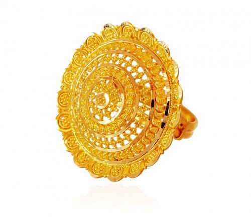 22K Gold Filigree Bridal Ring AjRi 22K Gold fancy ring