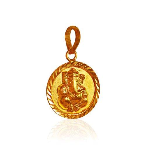 22k gold ganesh pendant round shape ajpe63483 22 karat gold holy 22k gold ganesh pendant round shape aloadofball Choice Image
