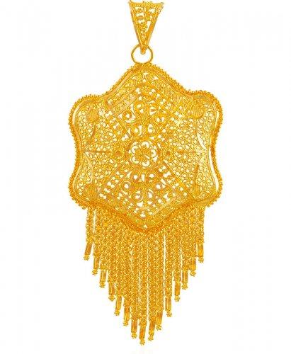 22k gold filigree big pendant aspe60902 us 1254 22kt gold 22k gold filigree big pendant aloadofball Images