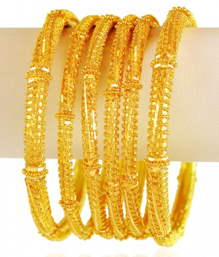 8620972d6 22 Karat Gold Bangles Set 6PCs - AsBa61644 - 22k gold bangles set (6 ...