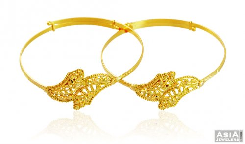 Baby Kada in 22K Gold (2 pc) - AjBa58890 - 22K Gold Baby ...