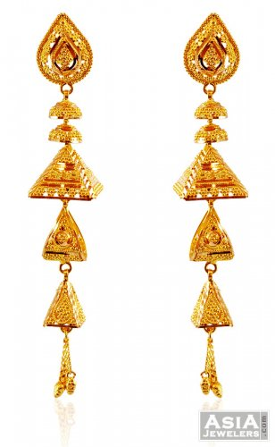 22k Meenakari Fancy Chandelier