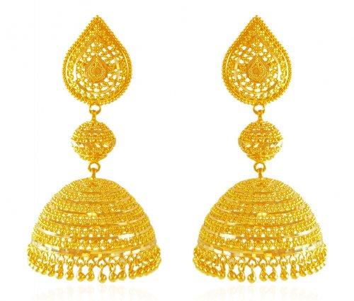 22 Karat Gold Jhumka