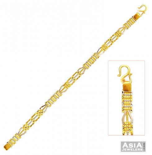22k Gold Mens Bracelet With Weight