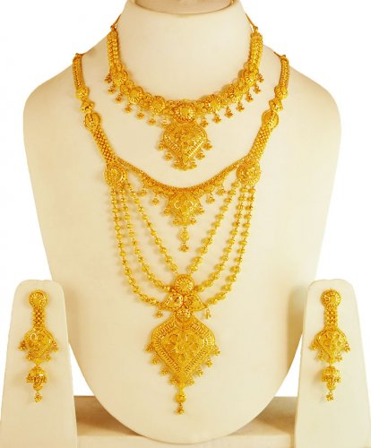 pendant kt and set karat bridal indian sets necklace gold earings