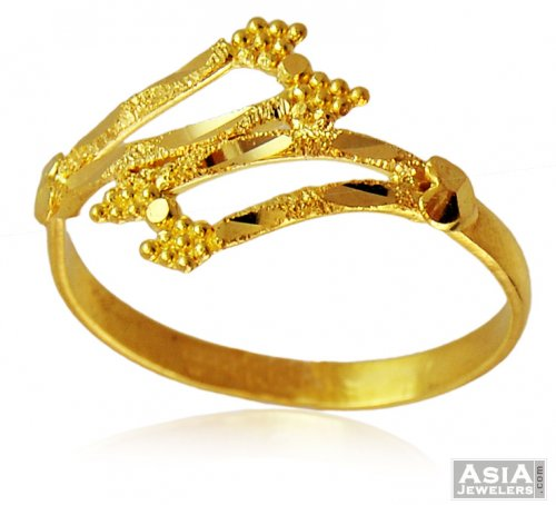22k Gold Fancy La s Ring AjRi 22k yellow gold fancy