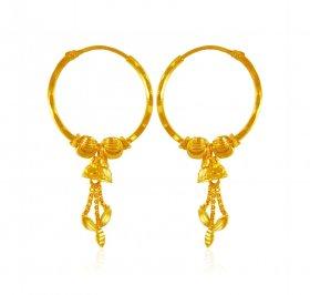 22K Gold Gold Earrings 22K Gold Hoops in range US 270 to