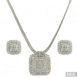 White Gold Necklace Sets A collection of 22K 18K white gold