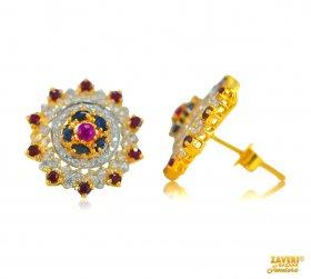 Gold Earrings With Gemstones Gemstone