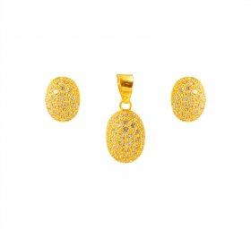 Gold fancy pendant sets 22k gold fancy pendants earring sets in 22k delicate signity pendant set gold fancy pendant sets aloadofball Images