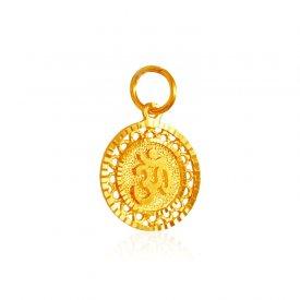 22k gold gold pendants gold om pendants in range us 200 to 22kt gold om pendant aloadofball Gallery